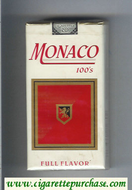 Monaco Full Flavor 100s Cigarettes soft box