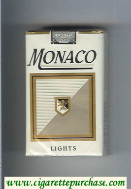 Monaco Lights Cigarettes soft box