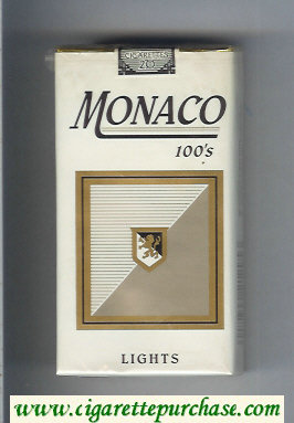 Monaco Lights 100s Cigarettes soft box