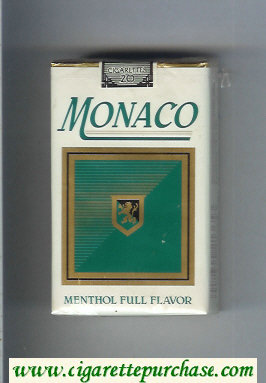 Monaco Menthol Full Flavor Cigarettes soft box