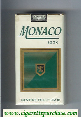 Monaco Menthol Full Flavor 100s Cigarettes soft box