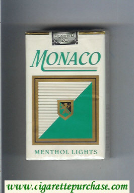 Monaco Menthol Lights Cigarettes soft box
