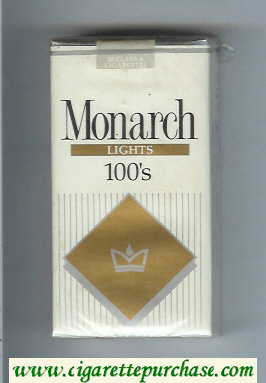Monarch Lights 100s cigarettes soft box