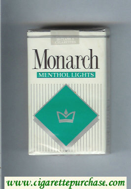 Monarch Menthol Lights cigarettes soft box