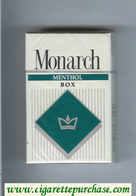 Monarch Menthol cigarettes hard box