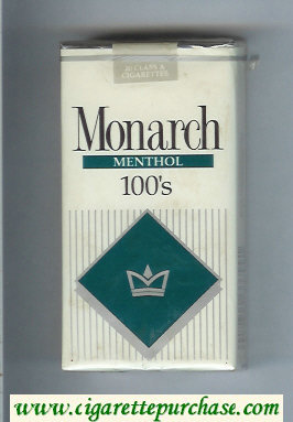 Monarch Menthol 100s cigarettes soft box