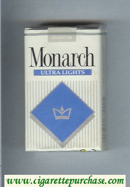 Monarch Ultra Lights cigarettes soft box