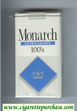 Monarch Ultra Lights 100s cigarettes soft box