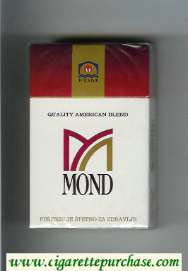 Mond Quality American Blend cigarettes hard box