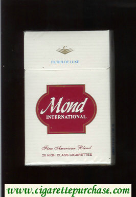 Mond International Filter De Luxe Fine American Blend cigarettes hard box