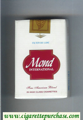 Mond International Filter De Luxe Fine American Blend cigarettes soft box