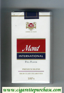Mond International Premium Blend 100s Full Flavor American Taste cigarettes soft box