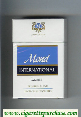 Mond International Premium Blend Lights American Taste cigarettes hard box