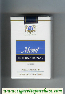 Mond International Premium Blend Lights American Taste cigarettes soft box