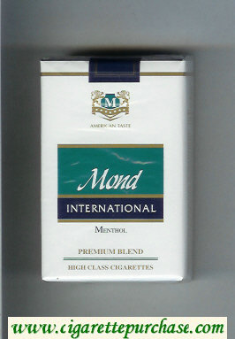 Mond International Premium Blend Menthol American Taste cigarettes soft box