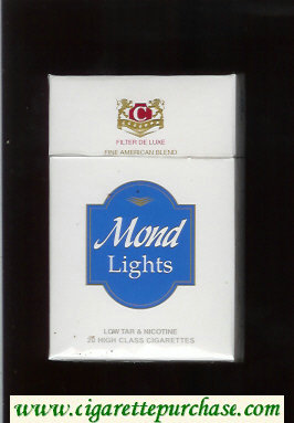 Mond Lights Filter De Luxe Fine American Blend cigarettes hard box
