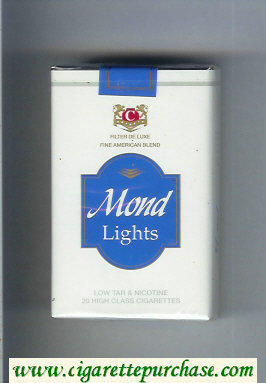 Mond Lights Filter De Luxe Fine American Blend cigarettes soft box