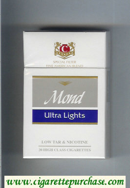 Mond Ultra Lights Special Filter Fine American Blend cigarettes hard box