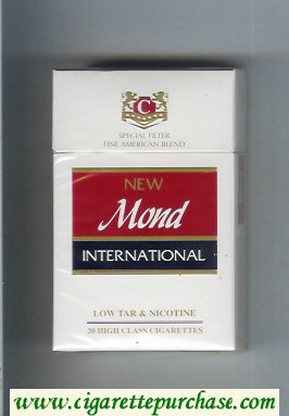 Mond New International Special Filter Fine American Blend cigarettes hard box