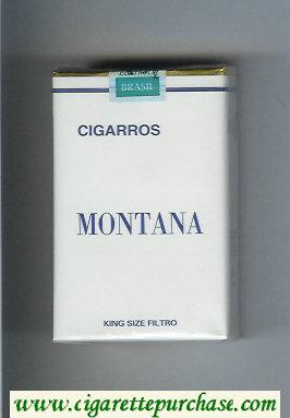 Montana Cigarros Cigarettes soft box