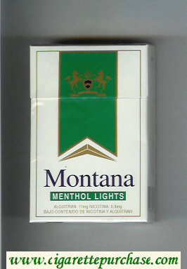 Montana Menthol Lights Cigarettes hard box