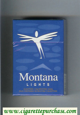 Montana Lights hard box Cigarettes