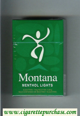 Montana Cigarettes Menthol Lights hard box
