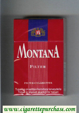 Montana Filter Cigarettes hard box