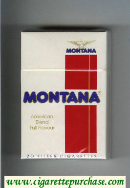 Montana American Blend Full Flavour white and red Cigarettes hard box
