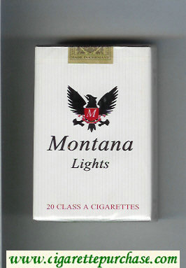 Montana Lights white Cigarettes soft box