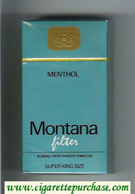 Discount Montana Menthol Filter 100s Cigarettes hard box