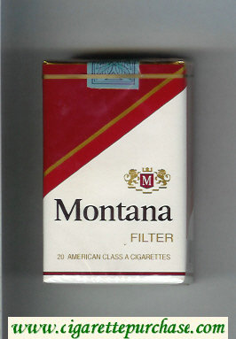 Montana Filter soft box Cigarettes