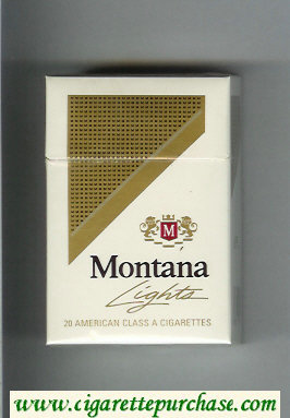 Montana Lights Cigarettes hard box