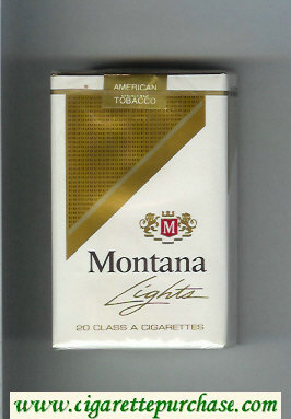 Montana Lights Cigarettes soft box