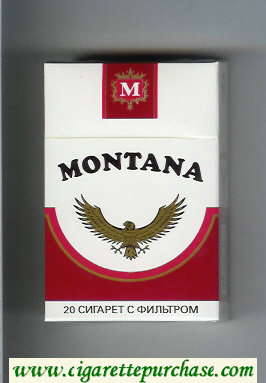 Montana Cigarettes hard box