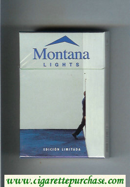 Montana cigarettes Lights Edicion Limitada hard box