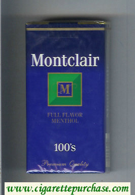 Montclair M Full Flavor Menthol 100s Cigarettes soft box