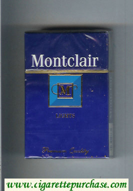 Montclair M Lights Cigarettes hard box