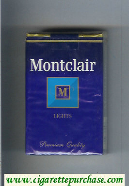 Discount Montclair M Lights Cigarettes soft box