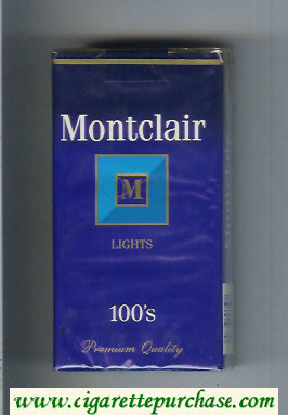 Discount Montclair M Lights 100s Cigarettes soft box