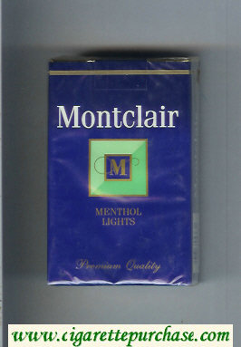 Montclair M Menthol Lights Cigarettes soft box