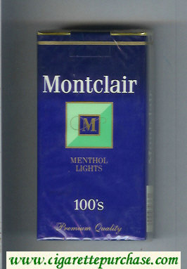 Discount Montclair M Menthol Lights 100s Cigarettes soft box