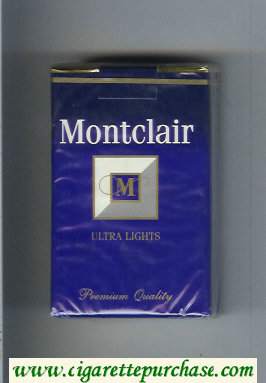 Montclair M Ultra Lights Cigarettes soft box