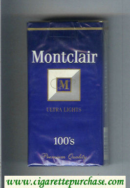Montclair M Ultra Lights 100s Cigarettes soft box