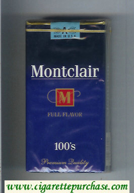 Montclair M Full Flavor 100s Cigarettes soft box
