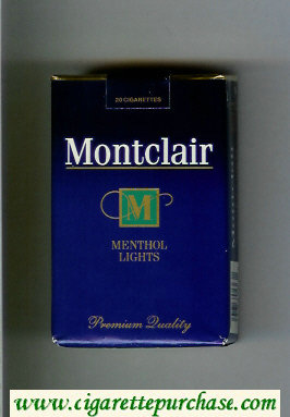 Discount Montclair M Menthol Lights Cigarettes soft box