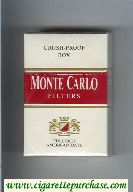 Monte Carlo Filters Full Rich American Taste cigarettes hard box