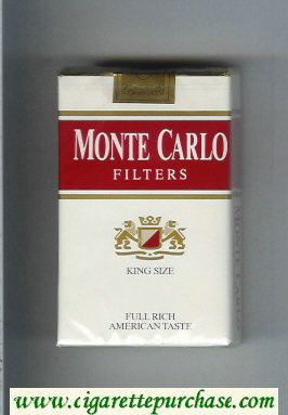 Monte Carlo Filters Full Rich American Taste cigarettes soft box