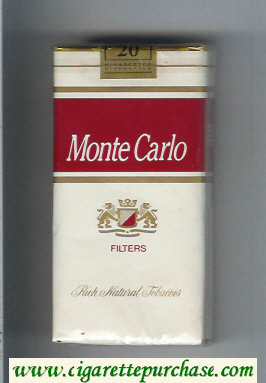Monte Carlo Filters Rich Natural Tabaccos 100s cigarettes soft box