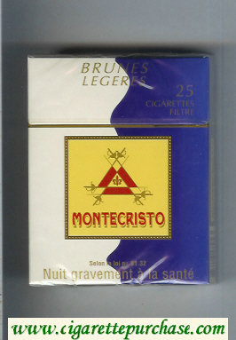 Montecristo Brunes Legeres 25 cigarettes hard box